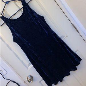 BRAND NEW Navy Blue Velvet Dress | H&M | size 14